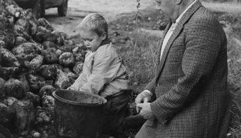 Stan Sturm met opa Achiel